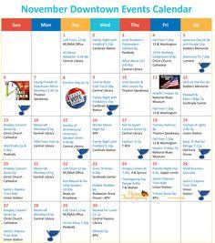 November Downtown Events Calendar