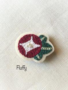 あさがおのブローチ|ブローチ|Fluffy|ハンドメイド通販・販売のCreema