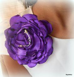 Violet Satin brooch