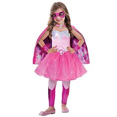 L Girls Barbie Super Power Princess Costume For Doll Fancy Dress Outfit Amazonco