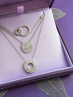 CS-DB Pendants Leavses Amour Pearl Silver Necklaces
