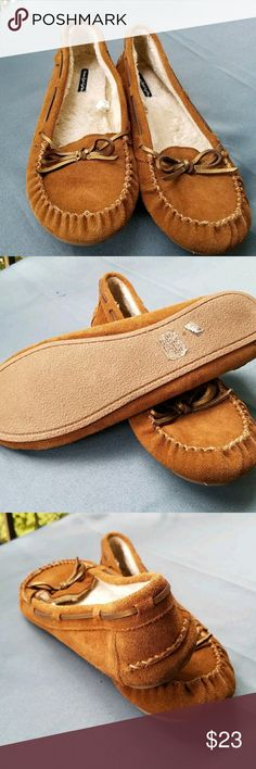American eagle outfitters moccasin loafers Tan suede moccasin slippers American Eagle Outfitters Shoes Flats & Loafers