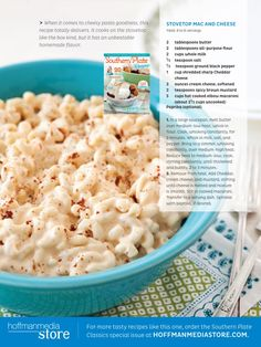 Stovetop Mac and Cheese from Southern Plate Magazine - available for a limited time!
