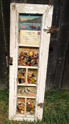Cool idea. Friend of mine took an old window pane and made a shadow box!
