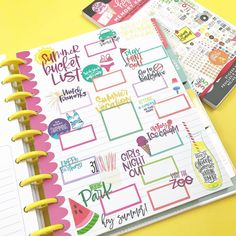 Planner babes are starting to roll out their summer bucket lists, and I had to jump on board! Since I begin working for myself on June 1, I… happy planner