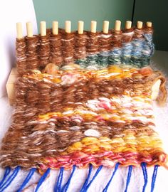 Peg Loom Weaving in progress