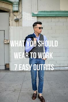 what to wear to work. #MensFashion #Menswear