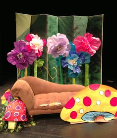 Tissue paper flowers for Alice in Wonderland