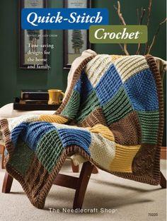 AA70220 Quick-Stitch Crochet - http://www.maggiescrochet.com/quickstitch-crochet-p-1441.html #crochet #pattern #quick #stitch #home #decor #accessories #technique
