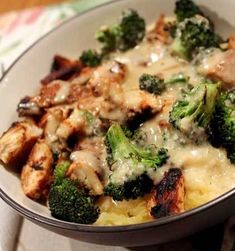 Recipe For Skinny Chicken and Broccoli Alfredo - A quick, easy and skinny weeknight meal, this chicken and broccoli Alfredo entree will become a staple in your home. Kids won't complain about having to eat their broccoli when it's mixed with such creamy, cheesy goodness, and you'll love the dish for it's healthier ingredients.
