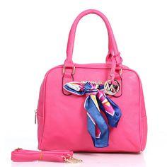 Michael Kors Scarf Logo Medium Pink Totes, New fashion for 2014!! #MichaelKorsHandbags