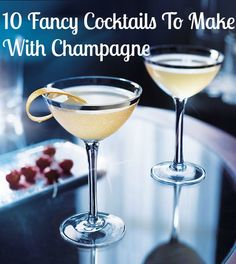 Have some left over champagne from the weekend? Don't toss it out! Mix up your bubbly and make the perfect sparkling drink.