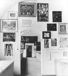 Room G2-West wall, of the Degenerate art exhibition ('Entartete Kunst') was organised by the Nazi regime in Munich and exhibited over 650 art works banned from 32 German museums.