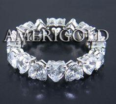 Heart diamond eternity ring!!