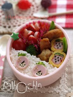 strawberry bento