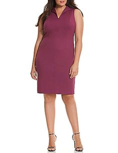 78846e60a69 LANE BRYANT 6TH  amp  LANE WOMENS PLUS SIZE EXPOSED BACK SHEATH DRESS SIZE  24 NEW