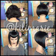 Bob Haircut With Bangs, Short Bob Haircuts, Short Hair Cuts, Short Hair Styles, Hair Evolution, Celebrity Haircuts, Rockabilly Hair, Shaved Hair, Grunge Hair