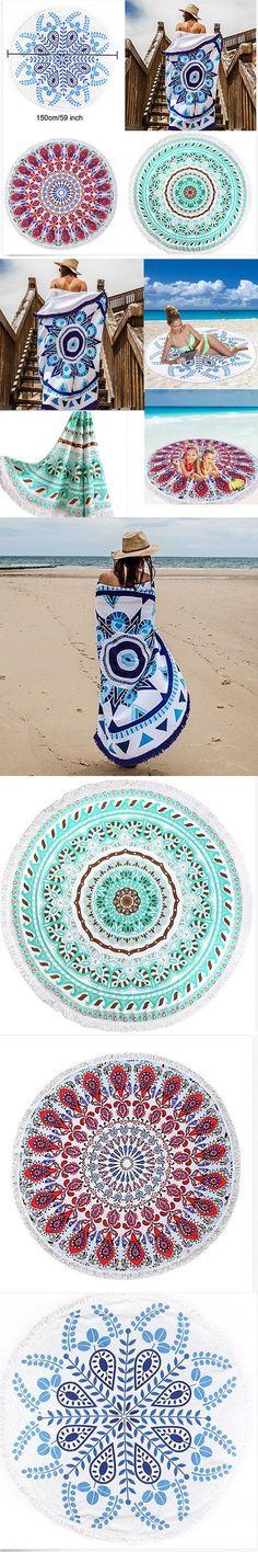 Retro Indian Mandala Round Hippie Tapestry Wall Hanging Boho Summer Beach Towel Blanket Yoga Mat Home Decor 150cm $13.1