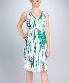 Take a look at this Emerald Maternity Burnout Dress by Japanese Weekend on #zulily today! $17 !!