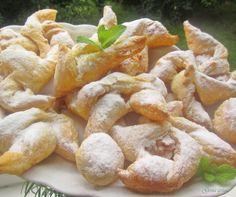 Gosia gotuje: Ciasteczka z ciasta francuskiego z masłem orzechow...