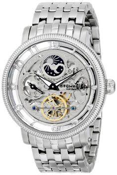 Stuhrling Original Men's 8411.33112 Symphony Symphony DT Analog Display Automatic Self Wind Silver Watch
