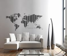 Wall Art Decor, Awesome Ideas Picture Beautiful And Inspiring Design Home Interior World Map Figure Regular Cushion Minimalist: picture wall art canvas print on demand living room perfect drawing