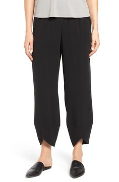 Eileen Fisher Silk Georgette Crepe Ankle Pants available at #Nordstrom