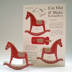 Cut & Make Rocking Horse Card    Don't forget - free worldwide shipping 'till 31 Dec using code FREESHIPPING!
