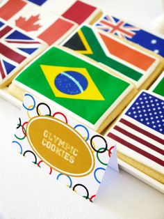 Olympics Cookies done for Birds Party Olympic printables shoot