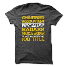 Chartered Accountant Because Badass Miracle Worker Is Not An Official Job Title…