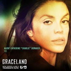 graceland tv show images | ... Ferlito Talks Her Character, Charlie on Graceland and Addiction