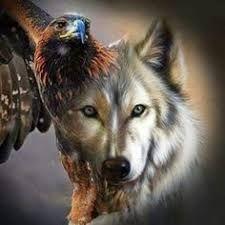 Resultado de imagen de lobos y aguilas pintura