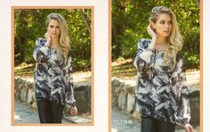 Look 10: Abstract Palm Tree Printed Blouse #fw2015 #lookbook #cluce