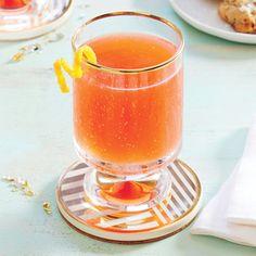 Pisco Sunset | MyRecipes.com Pisco, Campari, orange juice, and pear nectar creates a deliciously satisfying andrefreshing cocktail.