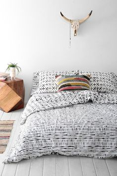 4040 Locust Dyed-Stripe Duvet Cover - Full/Queen at Urban Outfitters - Trendslove Room Inspiration, Decor, Bedroom Decor, Striped Duvet Covers, Bed, Home, Bedroom Inspirations, Home Bedroom, Home Decor