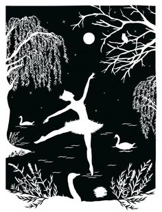 Tchaikovsky's Swan Lake - Laura Barrett - London Based Freelance Silhouette & Pattern Illustrator - Illustration Portfolio