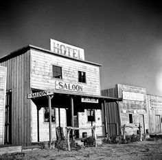 Old West Ghost Town (Circa 1936) this was an old movie set just north of the Arizona Canal & 40th St. in Phoenix, AZ, was known as Cudia City.