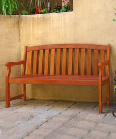 Look at this Outdoor Eucalyptus Bench on #zulily today!
