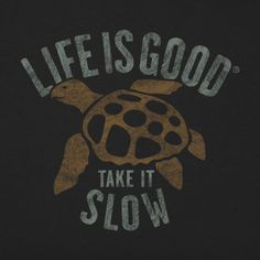 Men's Slow Turtle Long Sleeve Crusher Tee