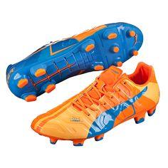 caba14077ae9 Puma evoPOWER 1.2 Tricks FG Soccer Cleats (Orange Clownfish Electric Blue  Lemonade)