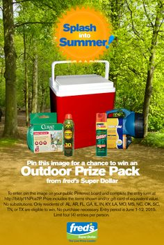 Whether you're tubing at the lake or camping by the river, outdoors is the place to be this summer. Stock up on essentials and watch out for those bugs! #FredsSplashIntoSummer