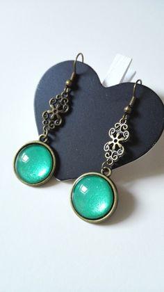 Boucles d'oreilles Outlander Ecosse celtique fairy bronze féérique Version 2 : Boucles d'oreille par miss-perles
