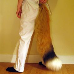 WANT:) Extra large Realistic Red Fox Costume Tail | Beetlecat - Clothing on ArtFire