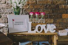 Decoração romântica - love