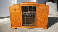 BUFFETT CHINA DISPLAY CABINET OAK