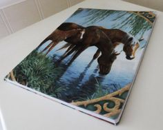 Water Horses  notebook/journal. by PeacefullyPerfect on Etsy