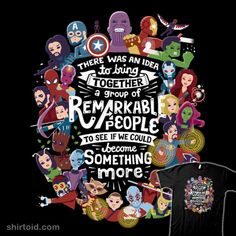 Remarkable People | Shirtoid #avengersinfinitywar #blackpanther #blackwidow #captainamerica #comic #comics #doctorstrange #draxthedestroyer #falcon #film #gamora #groot #guardiansofthegalaxy #hawkeye #hulk #ironman #loki #mantis #marvelcomics #movies #risarodil #rocketraccoon #scarletwitch #spiderman #starlord #thanos #theavengers #thor #warmachine #wintersoldier