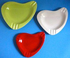 Cool Ceramic Boomerang Nesting Ashtray set by Cosasraras on Etsy, $33.00