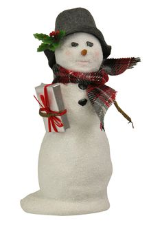 Byers' Choice Snowman with Package Inv # 2986