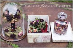 One Hitched Lane DIY How to Preserve Wedding Flowers